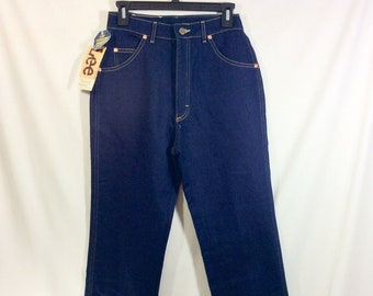 1980s RARE New Old Stock LEE Riders Misses Petite Dark Wash Denim Jeans size 4