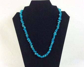 Vintage Turquoise Howlite 21 Inch Southwestern Beaded Necklace