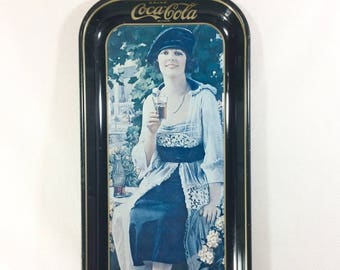 15% OFF! 1973 Reproduction of 1921 Coca Cola Tin Advertising Sign