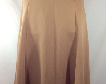 Womens Vintage UNION MADE Tan Six-Panel Skirt size 16
