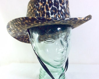 1990s Leopard Print Cowboy Hat by Western Expressions size 7 1/4