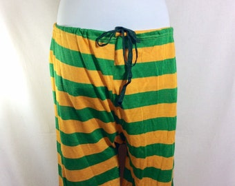 Vintage Mens Striped Drawstring Bathing Shorts size 29-32
