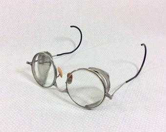 1920s Steampunk Wire Safety Goggles with Round Non-Presciption Lenses