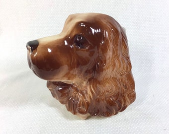 1970s Wall Hanging Ceramic Dog Planter by Royal Copley