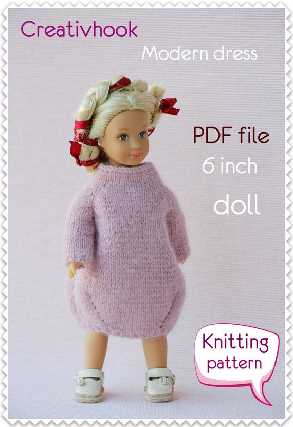 American Girl Dolls Clothes Pdf Knitting Pattern For 6 Etsy