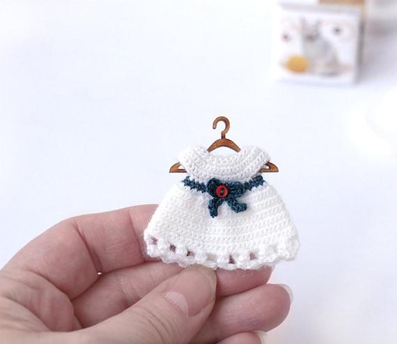 Mini Puppe Häkeln Puppenhaus Kleidung Babypuppe Passen Zu Etsy