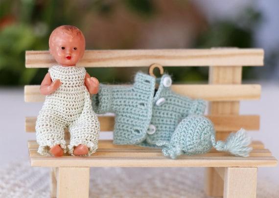 Puppenstuben Puppe Häkeln Overall Jacke Hut Häkelkleidung Für Etsy