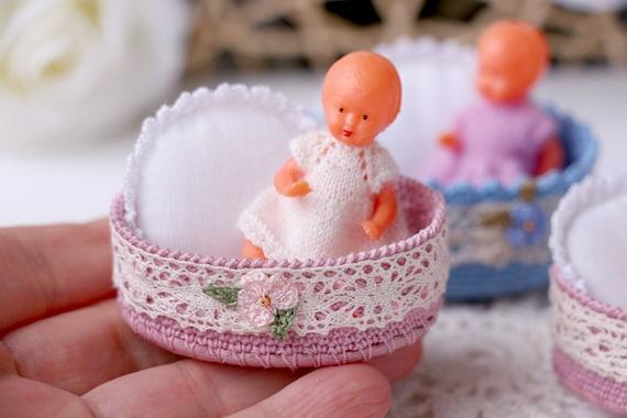 Puppenhaus Miniatur Stubenwagen Häkeln Mini Puppen Korb Etsy