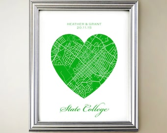 State College Heart Map