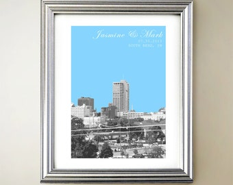 South Bend Personalized Cityscape