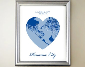 Panama City Heart Map