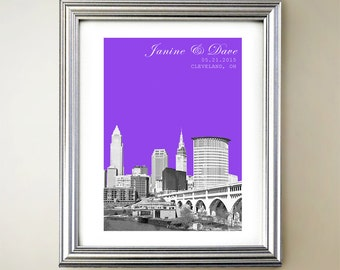 Cleveland Personalized Cityscape