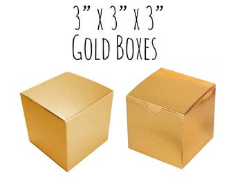 87eac0f5c72 Gold Boxes Square 3 x 3 x 3
