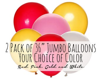 "24/"" Plain Giant Solid Colour 2ft Latex Balloons Big Party Decorations 10 pack"