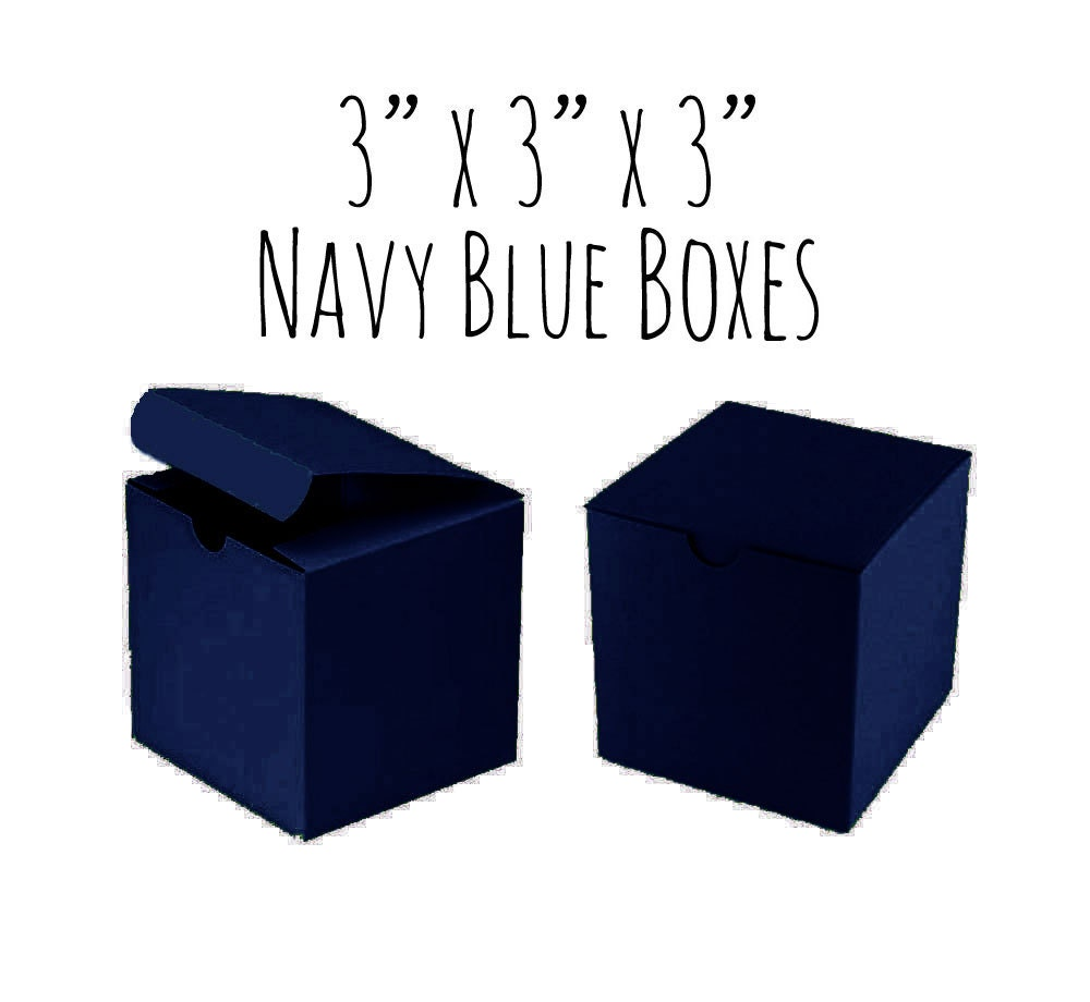 Navy Blue Boxes Square 3 x 3 x 3 5 to 20 Pack Of
