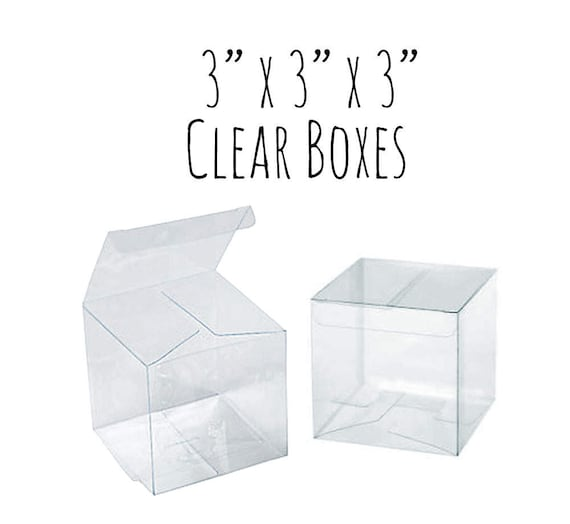10 Pack Of 3 X 3 X 3 Clear Boxes Wedding Favor Boxes Etsy