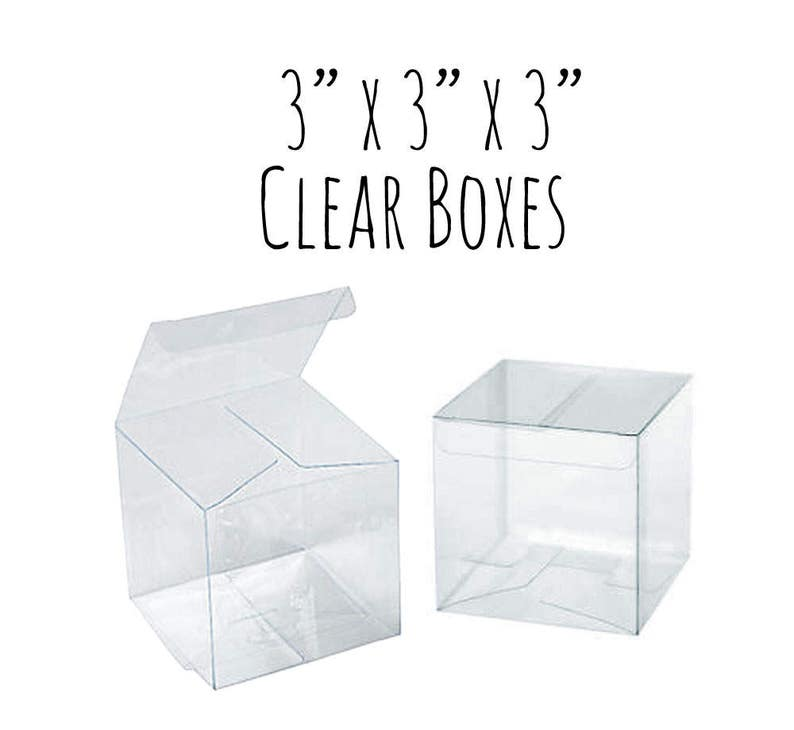 10 Pack Of 3 X 3 X 3 Clear Boxes Wedding Favor Boxes Gift Box See Through Cupcake Box Candy Box Clear Acrylic Plastic Box 3x3x3 Box
