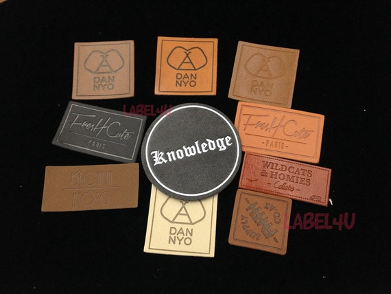 leather embossing patch pu labels making custom leather patches 50pcs pu patch embossed leather label blank leather patches