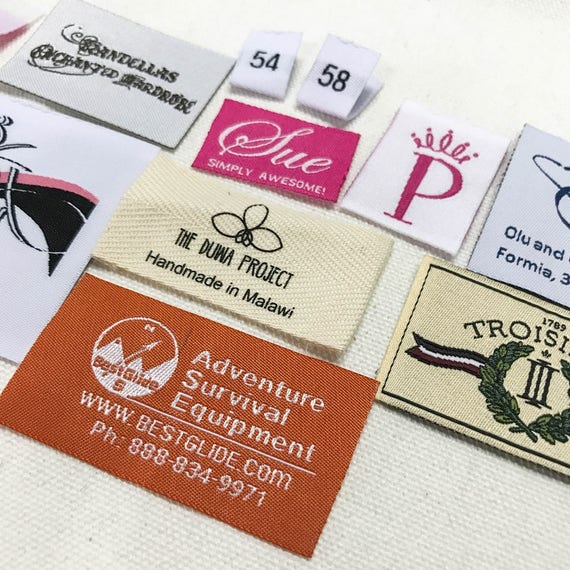 350 Custom Woven Labels 350pcs lot clothing tag U.S ship letters only