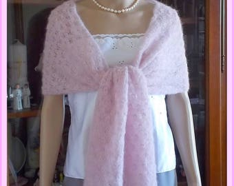 Scarf shawl shoulder warmer cream Mohair