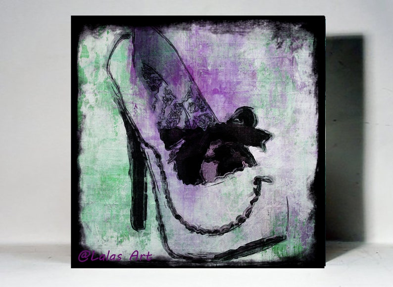 Unique Talons Hauts Pompes Chaussure Peinture Blanche Avec Etsy