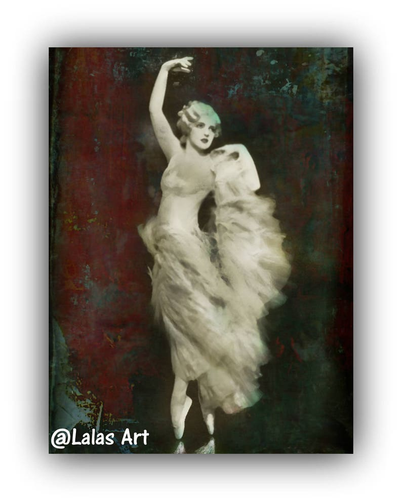 2ead95aad95 Vintage style painting Ballet Dancer Harriet Hoctor Ballerina
