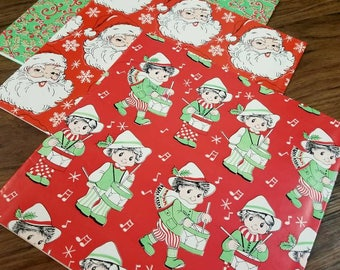 vintage christmas wrapping paper christmas wrapping paper vintage set christmas gifts christmas paper wrapping paper - Vintage Christmas Gifts