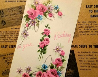 Vintage Greeting Card 1950s Special For A Birthday Her Unused W Envelope
