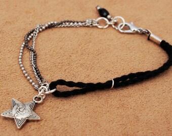 "Black bracelet ""black rope"""