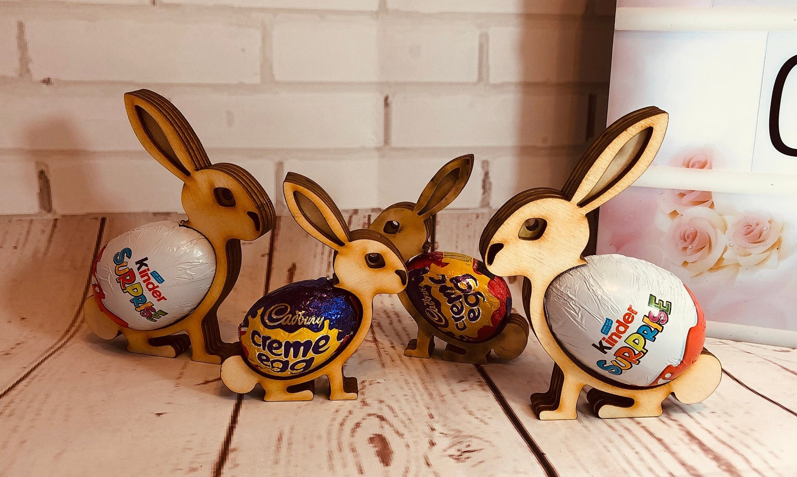 Easter Bunny Kinder Suprise Cream egg holder