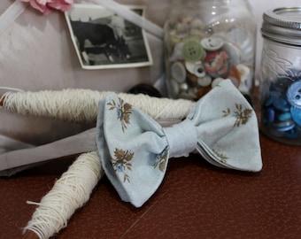 Blue Bud Bow Tie