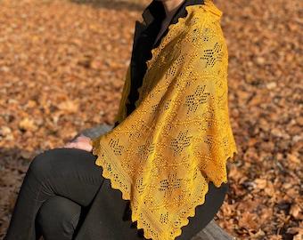 Authentic Haapsalu shawl, Estonian lace - Muhu Star pattern. Free shipping EU