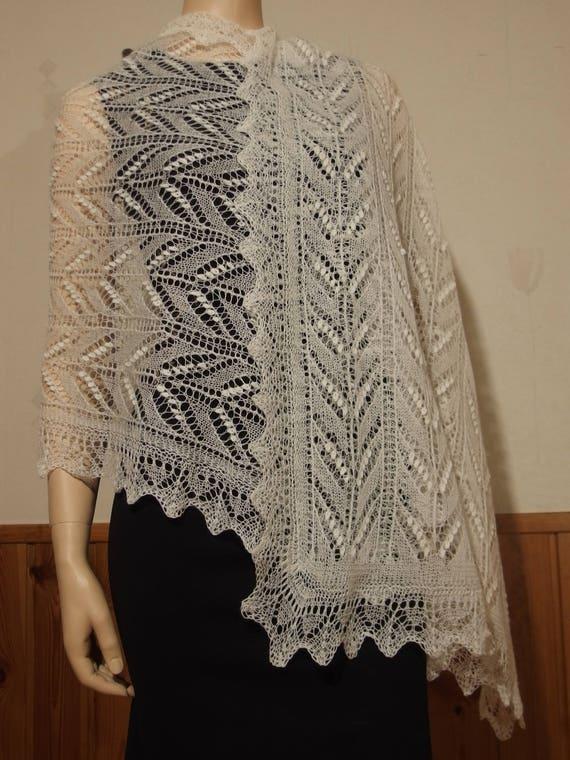 Hand Knitted Wedding Shawl Estonian Lace Haapsalu Etsy