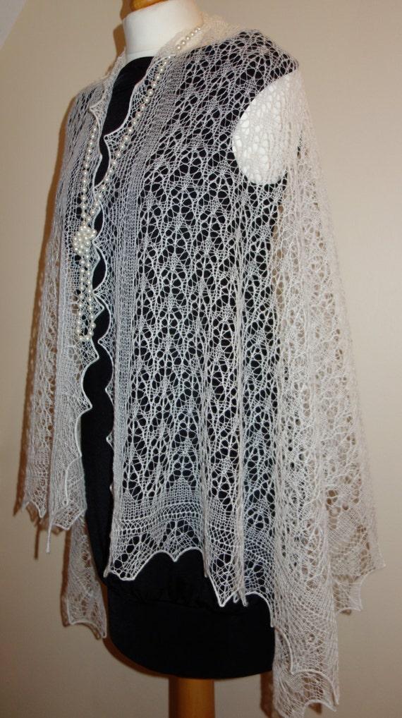 Hand Knitted Wedding Shawl Estonian Lace Haapsalu Shawl Etsy