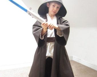 Jedi Robe Sewing Pattern Pdf - Star Wars Cloak Luke Skywalker Costume Kids Obi Wan Kenobi Anakin Boys Children Dressing Up Digital Download