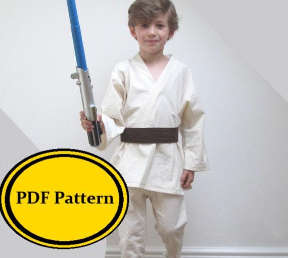 Jedi Costume Sewing Pattern Star Wars Luke Skywalker Anakin | Etsy
