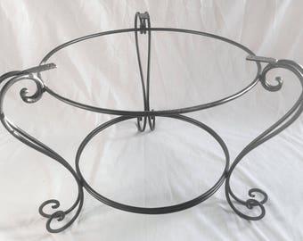 H Handmade Black Wrought Iron Coffee Table Base