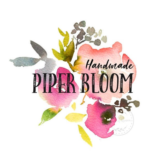 Premade Logo Flowers Floral Peonies Rustic Pink Watercolor Wreath Custom Logo Business Card Branding Design Shop Logo Wedding Signs LD293