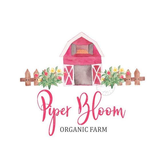 Premade Logo Ferme Grange Jardin Clture Bio Poussent Custom Shop Carte De Visite Branding