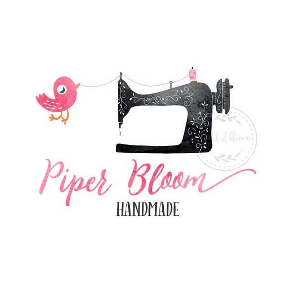 Premade Logo coser aves costura ropa acuarela tejido tienda | Etsy