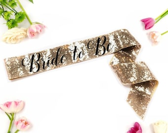 Bride to be sequin sash