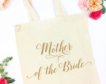 wedding title canvas tote
