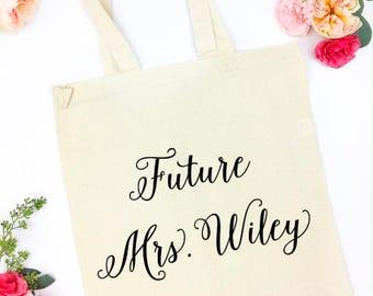 Future Mrs Canvas tote