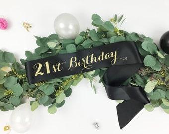 21st Birthday Sash , Finally 21, Twenty First Birthday Sash, Twenty-one, birthday girl sash, birthday accessory, party sash, 18th birthday