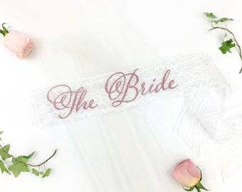 The bride lace sash