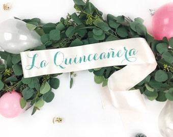 La Quinceanera Sash - 15 Birthday Sash - Custom Birthday Sash - Fiesta de Quince Años - Quinceanera Sash - birthday girl sash - any age sash