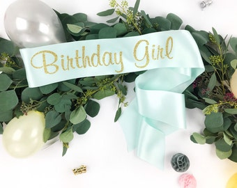 Birthday Girl sash, birthday sash, 16th birthday, 21st birthday, 30th birthday, any age birthday sash