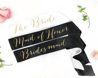 Bride to Be Sash - bridal party sash- bridesmaid sash-  Bachelorette Sash - Bridal Shower Bachelorette Party - Satin Bride Sash - Bride Sash