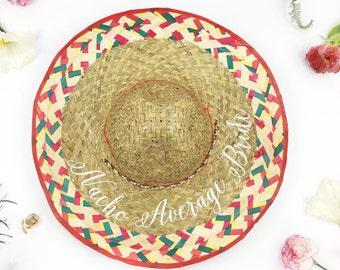 8c40abecb07 Nacho Average Bride Hat - Sombrero Hat - Fiesta Bachelorette - Cinco De  Mayo Bachelorette -Bride to Be Hat - Mexico Bachelorette -Custom hat