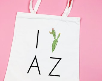 Scottsdale Before The Veil Bachelorette Party Totes - Wedding Welcome Bags, Bridesmaid Gift, Scottsdale Bachelorette - I love Arizona tote
